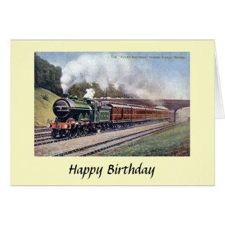 Birthday Card - Flying Scotsman