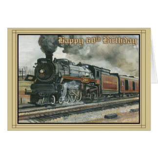 Birthday Card for 60 years with Train