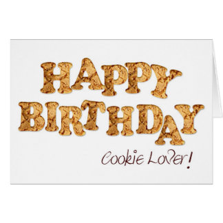 Birthday card for a cookie lover