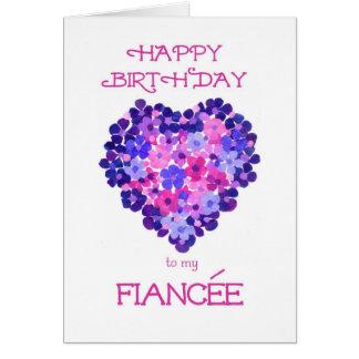Birthday Card for a Fiancee - Flower Power