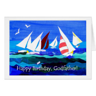 Birthday Card for a Godfather - Sailing
