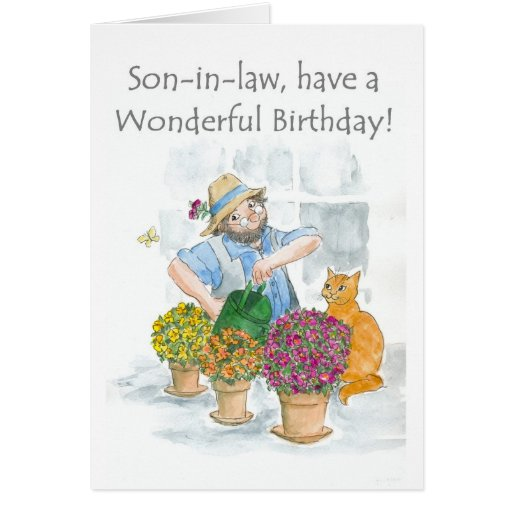 Birthday Card for a Son-in-law - Gardening