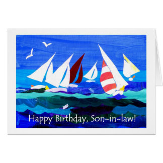 Birthday Card for a Son-in-law - Sailing
