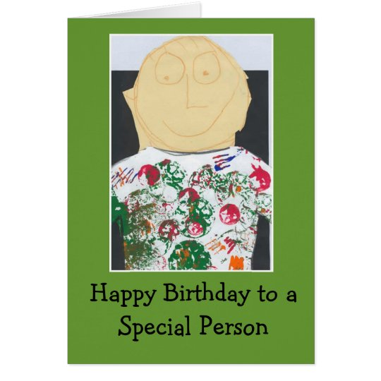 Birthday card for a special person