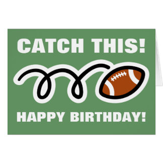 Birthday card for american football lovers