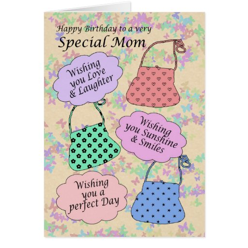 Birthday Card for Aunt, purse handbag
