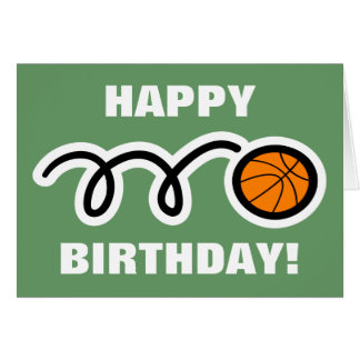 Birthday card for basketball lovers
