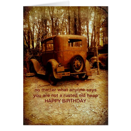 birthday card for classic car fan humourous photo