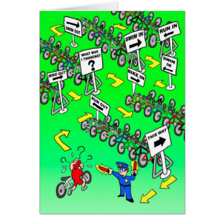 Birthday Card for Cyclist - Triathlon Cop