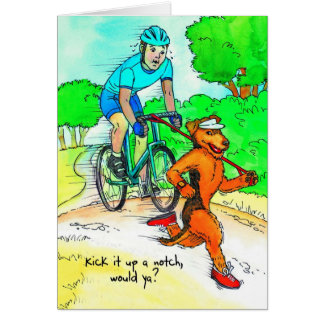 Birthday Card for Cyclist with Airedale Terrier