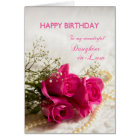 Birthday card for Daughter-in-law with pink roses