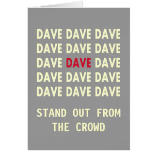 Birthday Card for DAVE