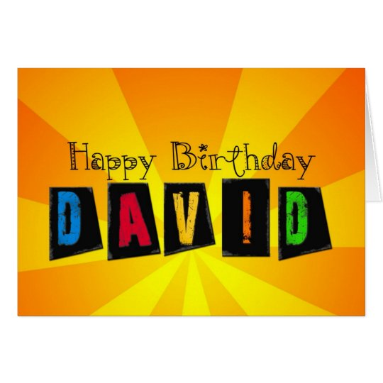 Birthday card for David