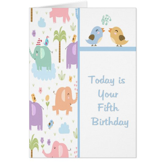 Birthday Card for Five Year Old Child