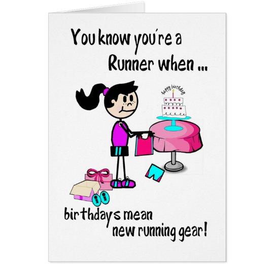 Birthday Card for Girl Runner