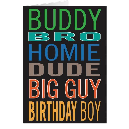 Birthday card for guy / male / man