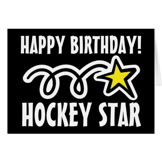 Birthday card for hockey player