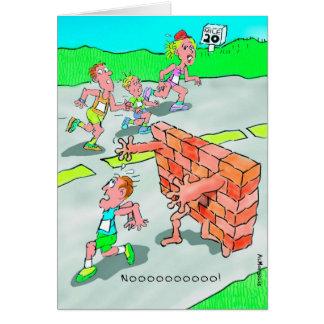 Birthday Card for Marathoner - Don't Hit the Wall