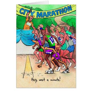 Birthday Card for Marathoner - Greyhound Runner