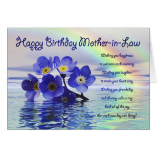 Mother in law birthday cards invitations zazzle birthday card for mother in law with forget me not bookmarktalkfo Gallery