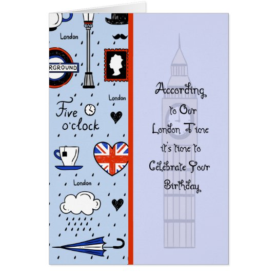 Birthday Card for Person in London