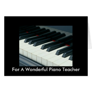 Birthday Card For Piano Teacher