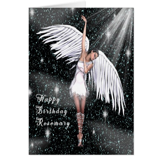 Birthday Card for Rosemary with Angel