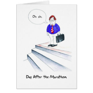 Birthday Card for Runner - Oh Oh Stairs