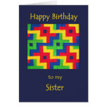 Birthday Card for Sister - Patchwork Quilt