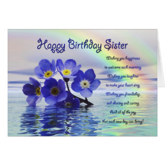 Birthday card for sister with forget me nots
