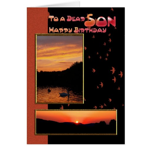 Birthday Card for Son, Dear Son