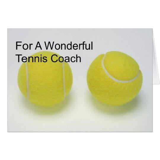 Birthday Card For Tennis Coach