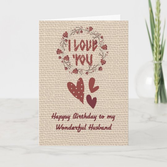 birthday card for your husband nordic design  zazzlecouk