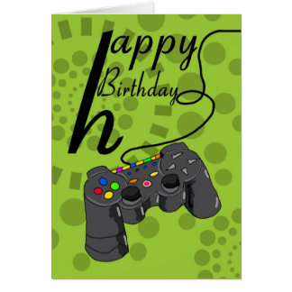 Birthday Card - generic console controller - gamin