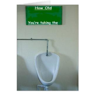 Birthday Card Gents Toilet