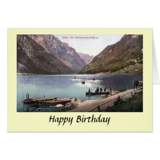 Birthday Card - Glarus, Switzerland