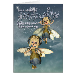 Birthday Card - Goddaughter - Moonies Cutie Pie Fa