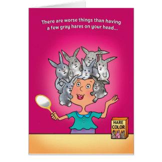 BIRTHDAY CARD, GRAY HAIR VS. NO HAIR CARD