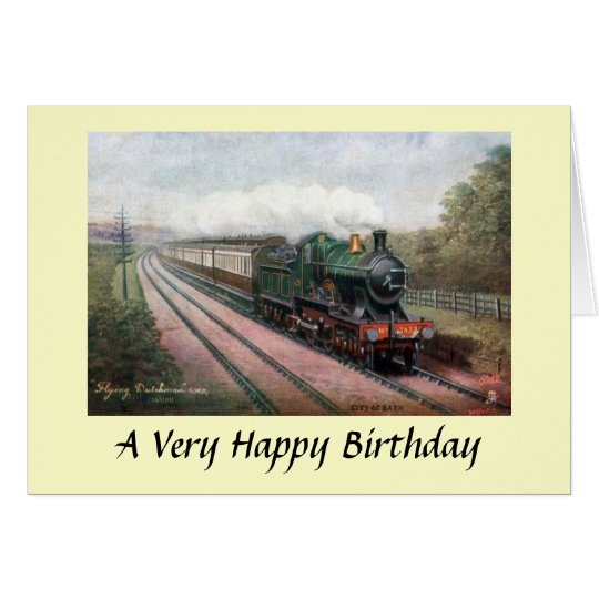 "Birthday Card - GWR ""Flying Dutchman"""