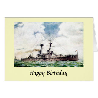 Birthday Card - HMS Vanguard
