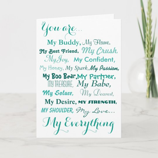 Birthday Card Husband Wife Male Female Love Zazzle Co Uk