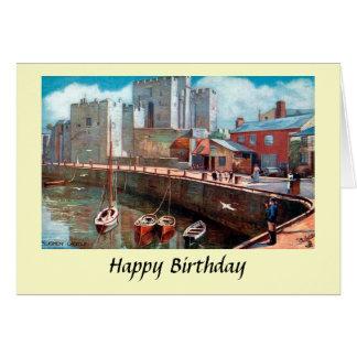 Birthday Card - Isle of Man, Rushen Castle