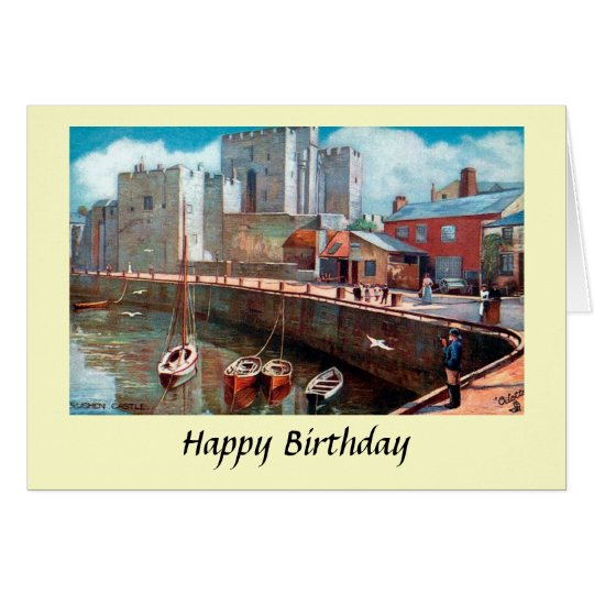 Birthday Card - Isle of Man, Rushen Castle