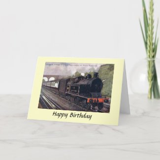 Birthday Card - L & N W R Tank Engine
