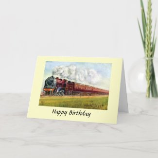"Birthday Card - LMS ""Royal Scot"""