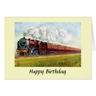 "Birthday Card - LMS ""Royal Scot"""