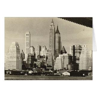 Birthday Card, Lower Manhattan Skyline Greeting Card