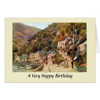 Birthday Card - Lynmouth, Devon