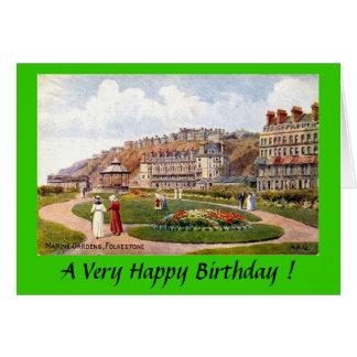 Birthday Card - Marine Gardens, Folkestone, Kent