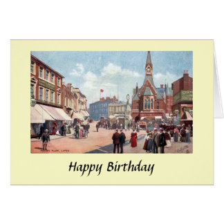 Birthday Card - Market Place, Luton